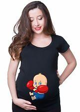 Funny Pregnancy T-shirt Boxing Baby Cute Pregnancy T-shirt