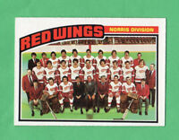 1976-77 OPC O PEE CHEE  # 137 Red Wings Team nrmnt-mt