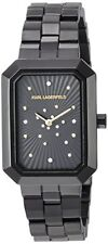 Karl Lagerfeld Black Ladies Linda Ion Plated Elegant Watch KL6101