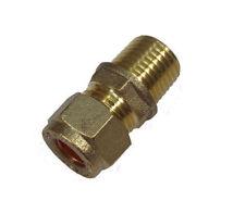 "8mm Compression x 1/4"" BSP Male Adaptor Fitting"