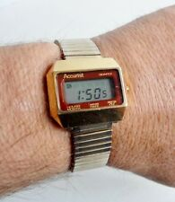 RARE VINTAGE GENTS ACCURIST LCD DIGITAL WATCH - CIRCA 1960's - FULLY WORKING
