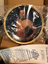 Star Trek Captain Kirk Collector Plate by Hamilton Collection Coa