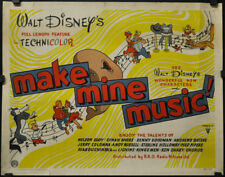 Machen Mine Musik 1946 Orig 22X28 UK Film Poster Disney Nelson Eddy Dinah Shore