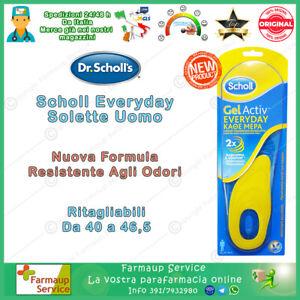 Dr Scholl Gel Active Everyday Uso Diario NUOVA FORMULA Solette Uomo