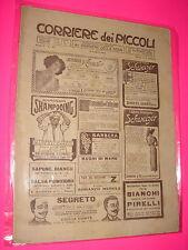 CORRIERE DEI PICCOLI anno 1913 n. 25 con sovracopertina pubblicitaria