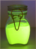 CHARTREUSE GLOW IN THE DARK PIGMENT POWDER,NAIL ART, WATER BASED