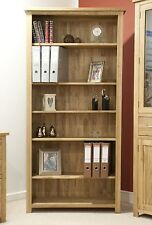 Eton solid oak modern furniture large living room office bookcase