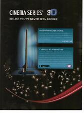 2011 Toshiba Cinema Series 3D TV 2 Pg Magazine Print Advertisement Page