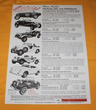 Classic-Car 1985 Kit-Car Prospekt Brochure Catalogue Depliant Bugatti Porsche