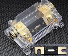 IN CAR AUDIO VIDEO STEREO ANL FUSE HOLDER 0 2 4 IN OUT GAUGE W/ 100 AMP 100A 125