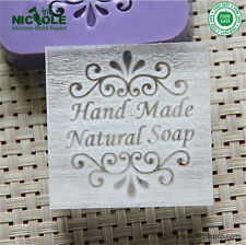 "5X5cm ""Handmade Natural Soap"" Patterns Organic Glass Acrylic Soap Seal Stamp"