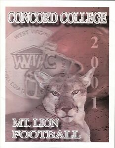 Concord Mountain Lions--2001 Football Media Guide