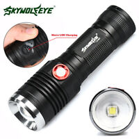 Zoomable Cree XM-L U2 LED 3 Modus USB Wiederaufladbare 10000LM Taschenlampe zss