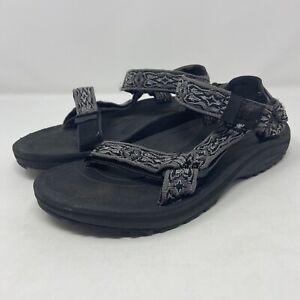 Teva Hurricane Gray/Black Sport Sandal Men's Size 8 6584 Lightweight