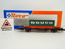 """ROCO H0 46110 Containertragwagen DB """"Rouch"""" OVP M1049"""