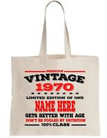 BLOWING OUT CANDLES SINCE 1970 50TH BIRTHDAY SHOPPING \ TOTE BAG Present Gift
