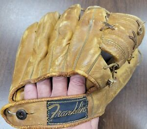 Vtg Franklin Baseball Glove Leather It's A Professional 1940s - Right Hand Throw