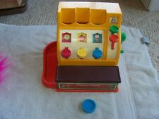Fisher Price Cash Register, Vintage with 1 coin  1974
