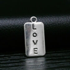 10pcs Charms Quote Word LOVE Pendant Tibetan Silver Beads DIY Bracelet 25*13mm