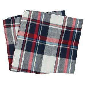New Club Room Mens Gingham Plaid Pocket Square Handkerchiefs MP12