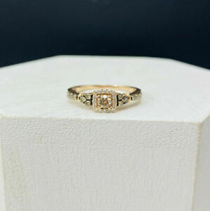 14K Rose Gold Engagement Ring With Champagne Diamond Ring Fine Rings