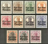 DR Deutsches Post in POLEN Rare WWI Stamp 1916 Germania Overprint Warschau War 1