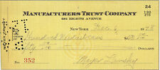 MEYER LANSKY Signed Cheque Check - MAFIA Crime Boss - preprint