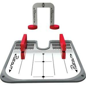 NEW Puttout Golf Putting Mirror Training Aid - Red / Gray