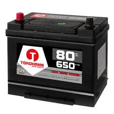 Asia Autobatterie 12V 80Ah 650A/EN hohe STARTKRAFT +Pluspol Links 70Ah Batterie