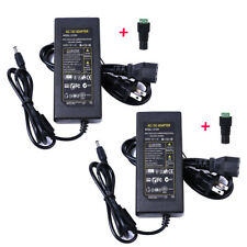2Pcs 12V 5A AC Power Supply AC Adapter Charger For PC LED Light CCTV Camera