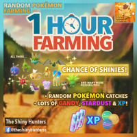 Pokémon GO   1 Hour Random Pokémon Farming   Candy, Stardust, XP   Shinies?! ✨