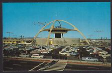 Los Angeles-International Air Terminal-Skyhigh Restaurant-Cars-Vintage Postcard