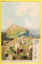 cpa Illustrateur OSCAR RICCIARDI, NAPOLI CAPRI Preso dalle rovine di Tiberio