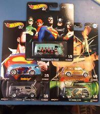 2018 Hot Wheels DC Comic Alex Ross Complete Set of 5