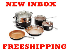 NEW INBOX Gotham Steel Ti-Cerama 10-Piece Cookware Set FREESHIPPING