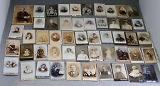 Sammlung ca. 122 antike Fotos Portrait CDV Mann Frau Soldat Kabinett Foto Photo