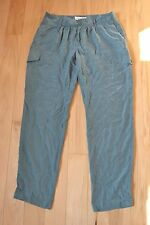 LOndon jean chino silk pants 12 new nwt women olive green