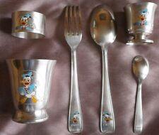 Donald's duck service vintage métal argenté WDP Walt Disney Pictures Timbale etc