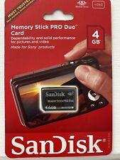 NEW SanDisk Memory Stick PRO Duo 4GB