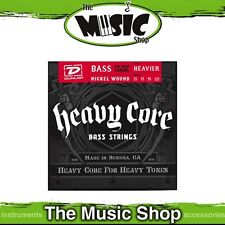 Set of Dunlop Heavy Core Nickel Wound Bass Guitar Strings - 55-115 Drop Tuning