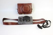 Coffee Leather camera case bag strap for Canon Powershot SX730 HS  dark brown