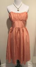 As U Wish Junior's Coral Peach Strapless Lined Dress Size 5
