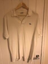 Lacoste Para Hombre Blanco Algodón Camiseta Polo Talla 6/XL