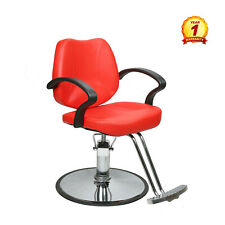 Hydraulic Recline Barber Chair Salon Beauty Spa Shampoo Beauty Equipment Red