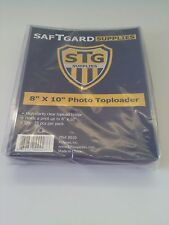 SafTgard 8x10 Photo Top Load Protector Package of 25 New NIP