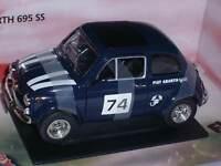 MONDO MOTORS 1:18 FIAT ABARTH 695 SS ITALIAN STYLE #74 BLU  ART 500314