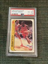 1986 87 Fleer Sticker #8 Michael Jordan Rookie RC PSA NM MINT+ 8.5 #8 Bulls HOT!
