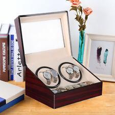 Uhrenbeweger 4+6 Automatisch Watch Winder Box Uhrenbox Holz Schaukasten Vitrine