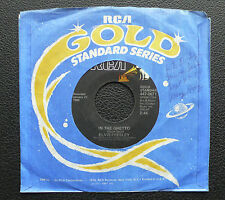 """7"""" Elvis Presley - In The Ghetto/ Any Day Now - USA RCA Gold Standard"""