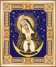 Virgin Mary Ostrobramska Icon beading DIY kit bead embroidery glass seed beads
